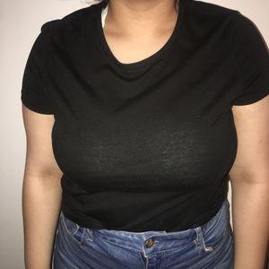 black danskin now tshirt crewneck XL